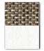 Cappuccino Textil / Weiß Kunstleder